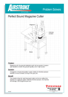 Perfect Bound Magazine Cutter